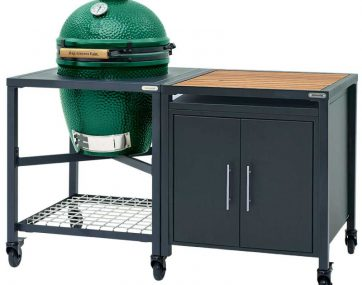 Гриль Big Green Egg Large + Модульная система с дверцами